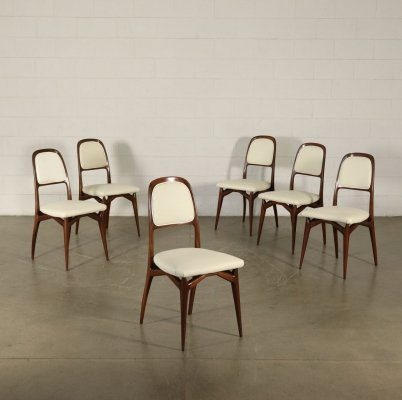 Set of Six 1950s Vintage Chairs