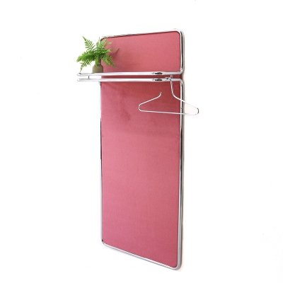 Dusty Pink Bauhaus Style Coat Rack by Läsko, 1970s