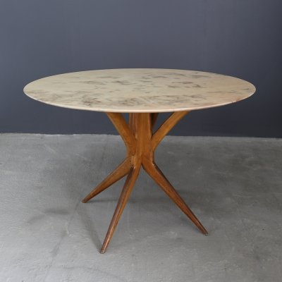 BBPR table in marble & walnut, 1950s