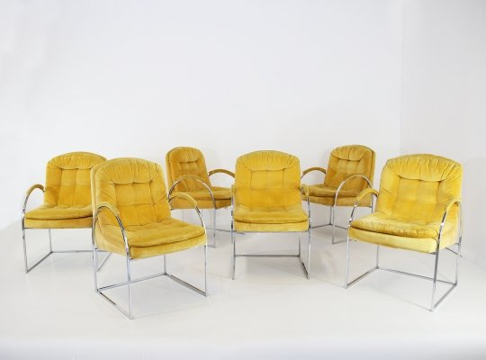 Set of 6 chairs by Milo Baughman, USA 1970s