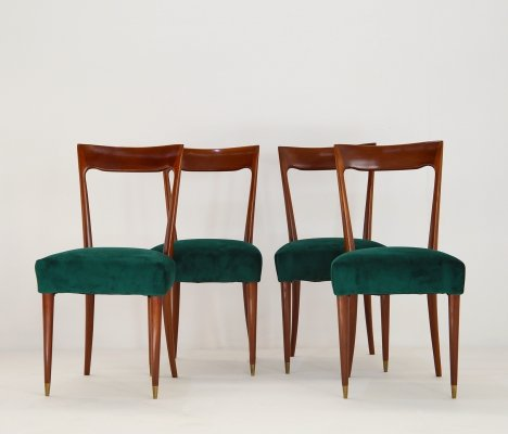 Set of 4 chairs by Guglielmo Ulrich, 1940s