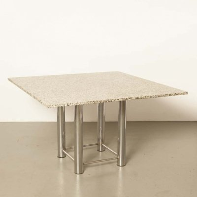Granite Square Table, 1980s