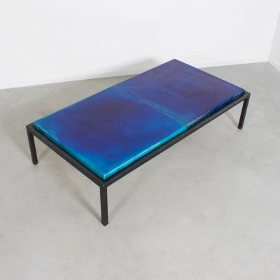 Rare Glazed Ceramic Coffee Table by Majolika, 1960s