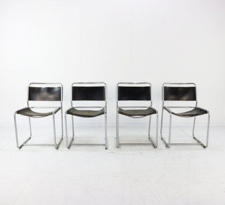 Four dinner chairs by Belgian designers Claire Bataille & Paul Ibens