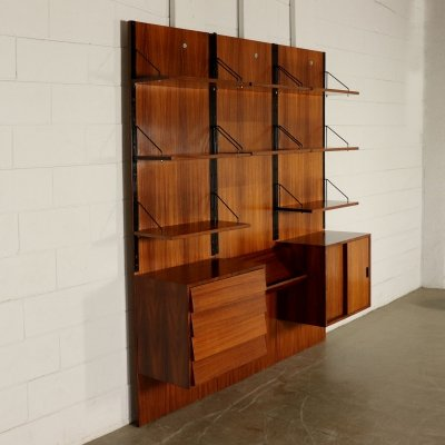 1960s Vintage Wall Bookcase
