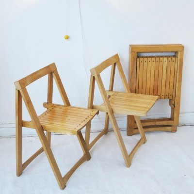 Set of 4 folding chair by Aldo Jacober