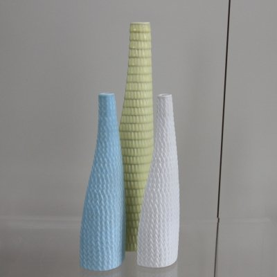 Set of 3 'Reptile' serie vases by Stig Lindberg for Gustavsberg, 1953