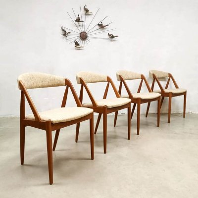 Set of 4 vintage dining chairs by Kai Kristiansen for Schou Andersen