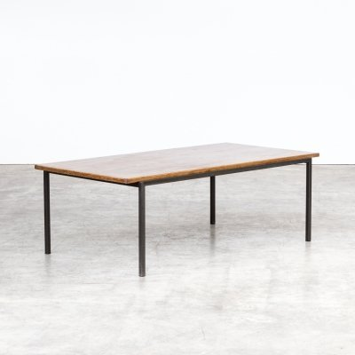 Metal framed coffee table with wengé top, 1960s