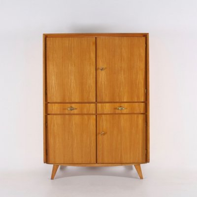 Ash highboard cabinet by Musterring with compas shaped legs