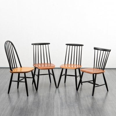 Midcentury set of 4 chairs, 1960s