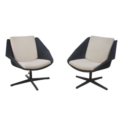 Pair of FM08 Swivel chairs by Cees Braakman, 1950s