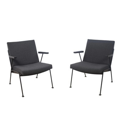 Pair of Oase lounge chairs by Wim Rietveld for Ahrend de Cirkel, 1950s