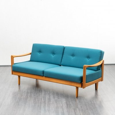 Petrolblue daybed sofa, 1960s