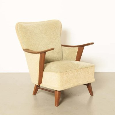 Light pastel green armchair, 1950s