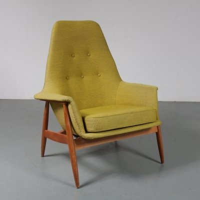 Rare Dutch lounge chair by J. van Gunteren for Gelderland, the Netherlands 1950s