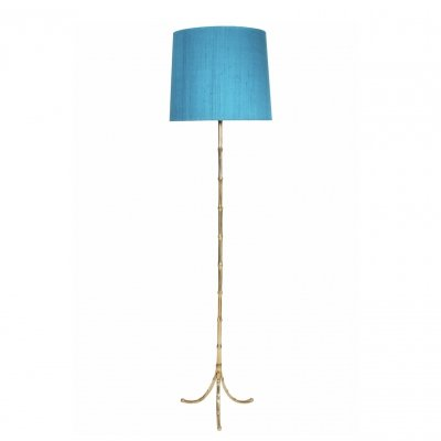 Brass Faux Bamboo Floor Lamp, 1960s
