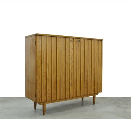 Rare Swedish pine sideboard by Göran Malmvall for Svensk Fur, 1950s