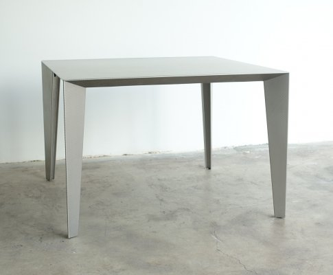 Steel Square table 'Fold & Profile' by Fabiaan Van Severen, first edition 1996