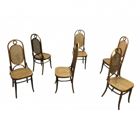 Set of 6 Thonet no. 17 dining chairs, 1950s