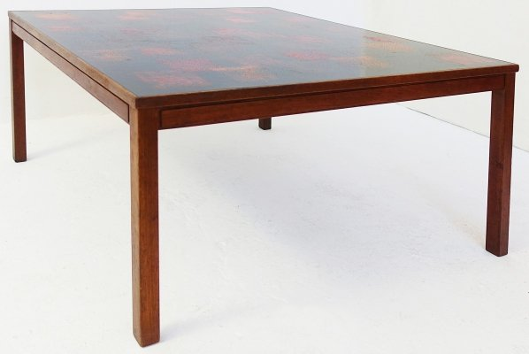 David Rosen & P. Torneman Teak And Enamel Coffee Table for NK, Sweden 1965