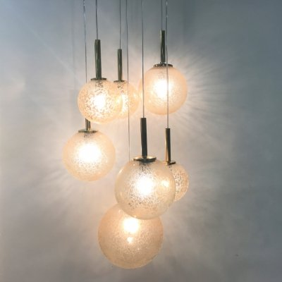 Vintage cascading chandelier by Doria, 1960s