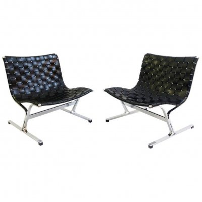 Pair of Ross Littel 'Luar' Lounge Chairs for ICF De Padova, Italy 1965