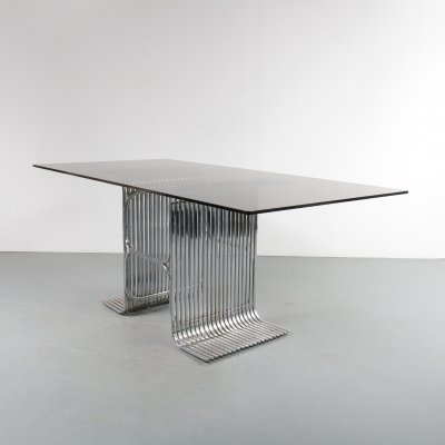 Pipe frame dining table, France 1950s