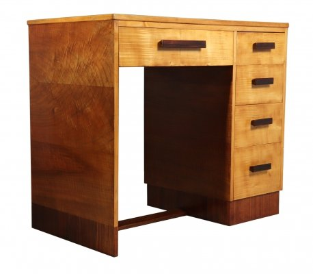Art Deco Desk in Sycamore, c1930