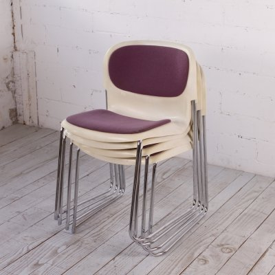 Set of 4 Space Age Chairs from Gerd Lange for Drabert