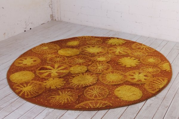 Round Vintage Carpet made of wool by Bergoss