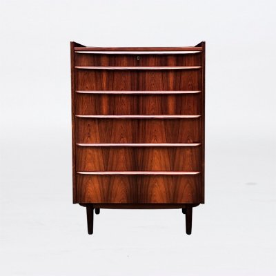 Rosewood 'Tallboy' Chest of six Drawers