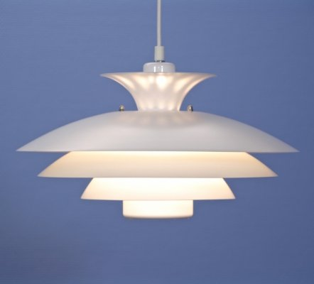 Danish hanging lamp in white, 1980s