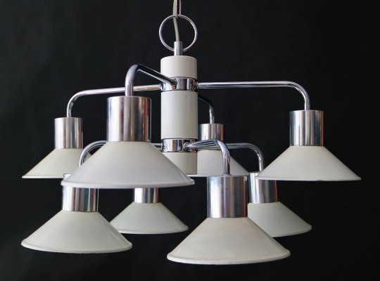 Chrome chandelier, 1960s
