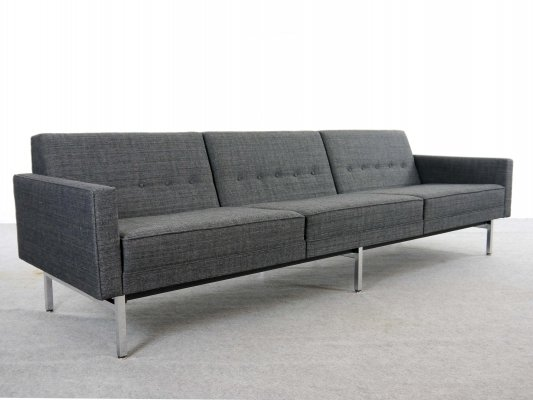 Grey fabric Modular Seating Sofa by George Nelson for Herman Miller, 1965