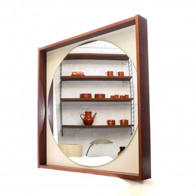 Mohagony framed Mirror from the 70s