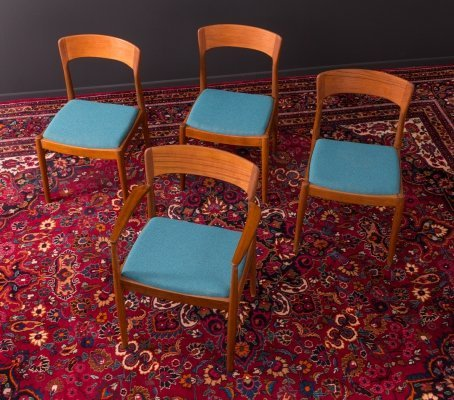 Set of 4 Danish dining chairs by K.S. Møbler, 1960s