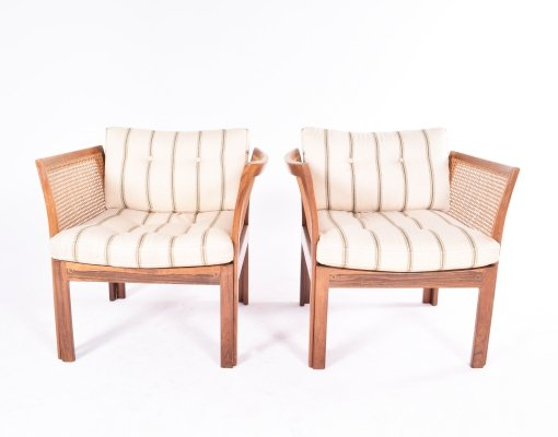 Pair of Illum Wikkelso 'Plexus' Rosewood Armchairs