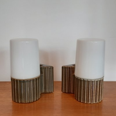 Pair of wall lamps by Sigvard Bernadotte for IFO Sweden, 1960s