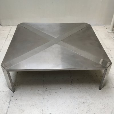 Steel coffee table by Maria Pergay, 1970