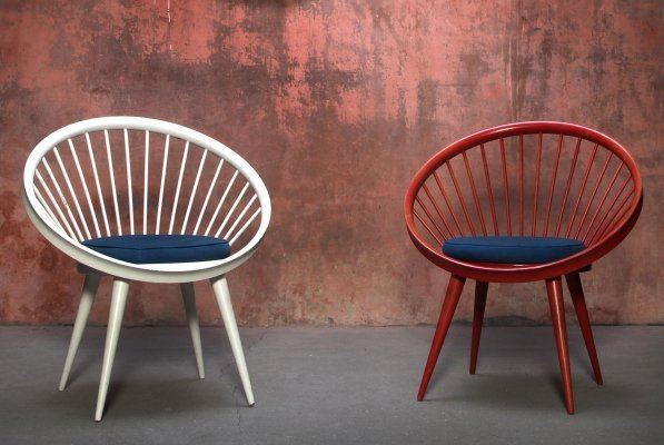 Set of Circle Chairs by Yngve Ekström, 1960s