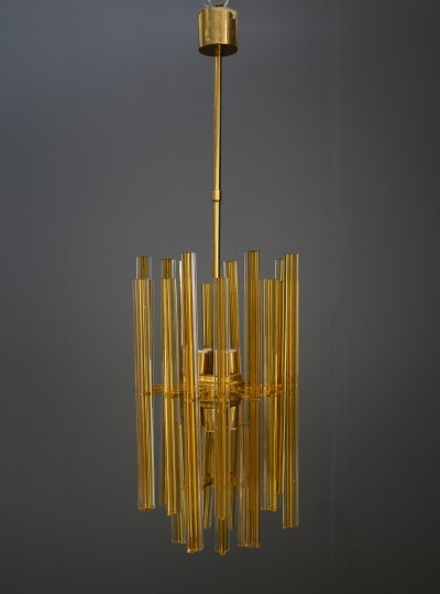 Large 8 lights Venini chandelier, 1950s