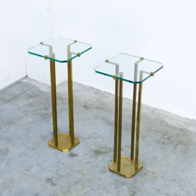 Pair of Console Side Tables by Peter Ghyczy