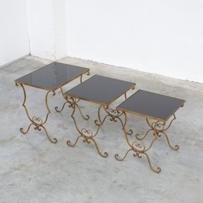 Set of 3 vintage nesting tables, 1950s