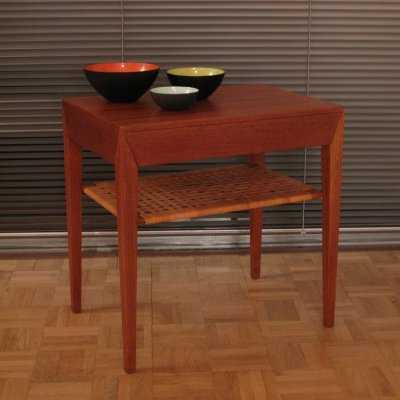 Side table by Severin Hansen Jr for Haslev Møbelsnedkeri, 1960s