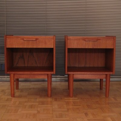 Pair of Gunnar Nielsen Nightstands for Tibergaard