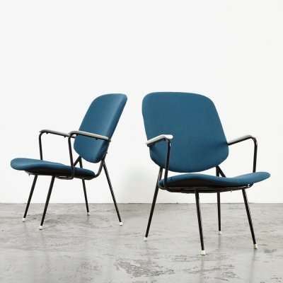 Pair of Dutch Easy Chairs, 1950s