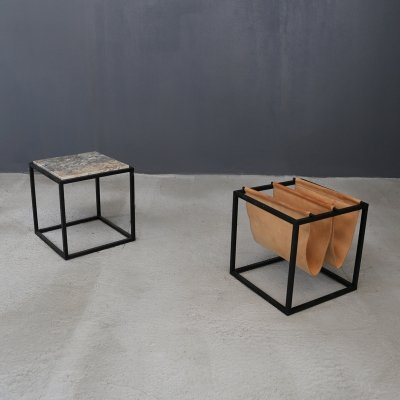 Domino magazine rack with table by Jorge Zalszupin, 1969