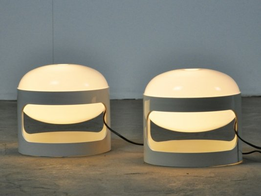 Pair of KD27 Table Lamps by Joe Colombo for Kartell, 1967