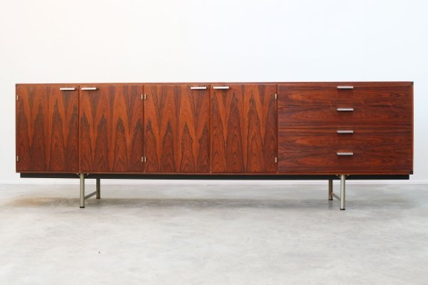 Dutch Design sideboard in Rosewood by Cees Braakman for Pastoe, 1950s